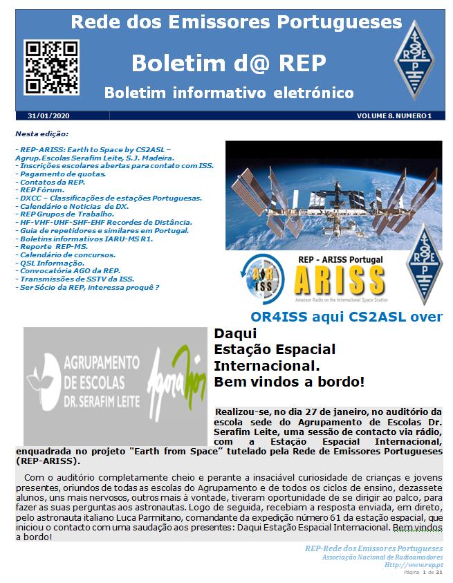 Boletim d@ REP Edição Nº 1 Vol. 8 de 31-01-2020 – REP – Rede dos Emissores Portugueses ®